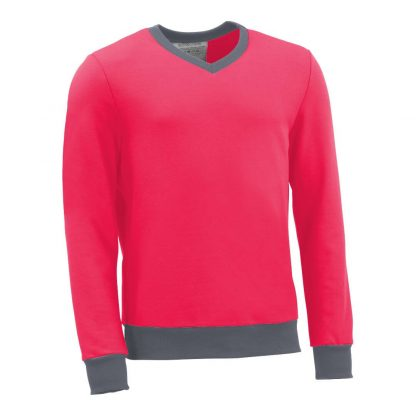 Pullover mit V-Ausschnitt_fairtrade_pink_FSCCHA_front