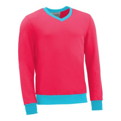 Pullover mit V-Ausschnitt_fairtrade_pink_XSY1LE_front
