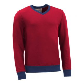 Pullover mit V-Ausschnitt_fairtrade_rot_7LMLID_front