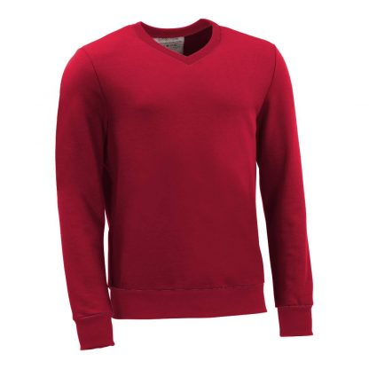 Pullover mit V-Ausschnitt_fairtrade_rot_DQ01N1_front