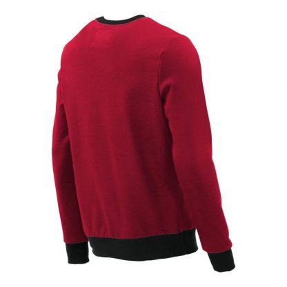 Pullover mit V-Ausschnitt_fairtrade_rot_GWPHMP_rueck