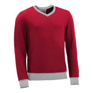 Pullover mit V-Ausschnitt_fairtrade_rot_T48JO8_front