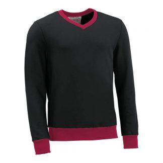 Pullover mit V-Ausschnitt_fairtrade_schwarz_G1DJXH_front