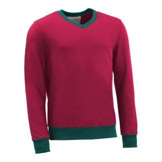 Pullover mit V-Ausschnitt_fairtrade_weinrot_EO1GL9_front