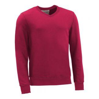 Pullover mit V-Ausschnitt_fairtrade_weinrot_NQQDHG_front