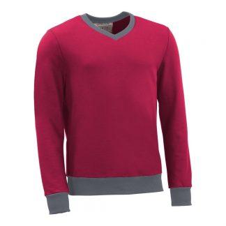 Pullover mit V-Ausschnitt_fairtrade_weinrot_SP90JL_front