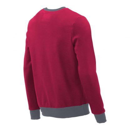 Pullover mit V-Ausschnitt_fairtrade_weinrot_SP90JL_rueck
