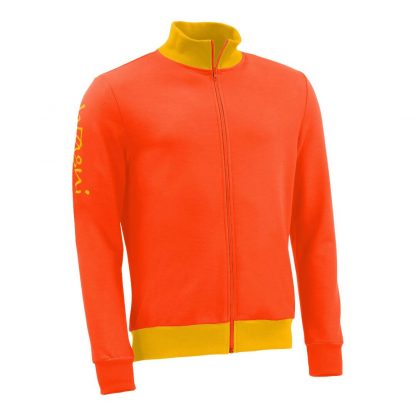 Stehkragenjacke_fairtrade_orange_34HP9F_front