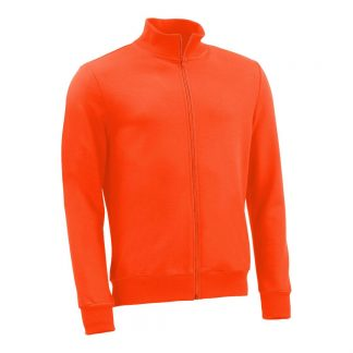 Stehkragenjacke_fairtrade_orange_GGGRJJ_front