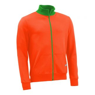 Stehkragenjacke_fairtrade_orange_QNYADD_front