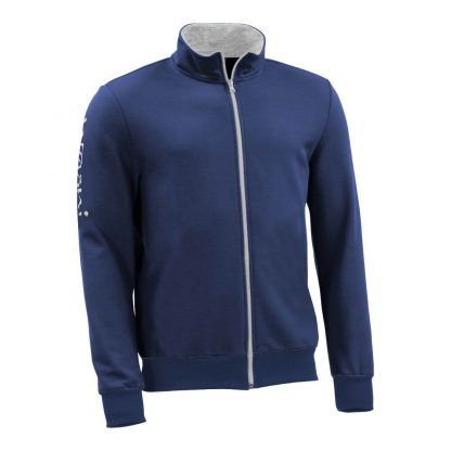 Sweatjacke_fairtrade_blau_KDV105_front
