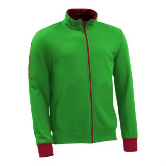 Sweatjacke_fairtrade_gruen_QJ42U9_front