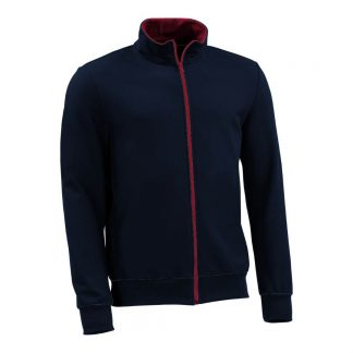 Sweatjacke_fairtrade_marineblau_MDU7BF_front