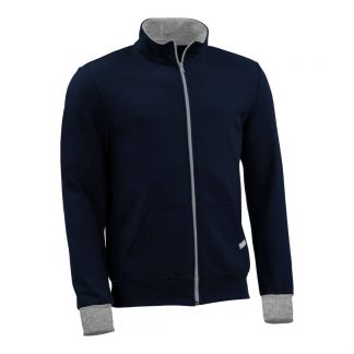 Sweatjacke_fairtrade_marineblau_VRDC7S_front