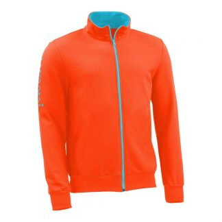 Sweatjacke_fairtrade_orange_BWU4IR_front