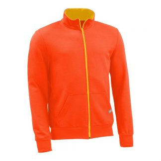 Sweatjacke_fairtrade_orange_UH7WQA_front