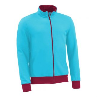 Sweatjacke_fairtrade_tuerkis_NMY14U_front