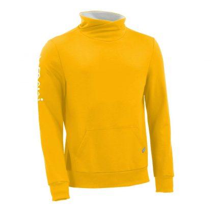 Pullover mit Schalkragen_fairtrade_gelb_IYE4NX_front