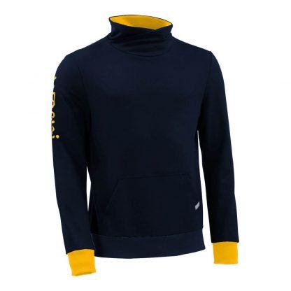 Pullover mit Schalkragen_fairtrade_marineblau_E6JBK6_front