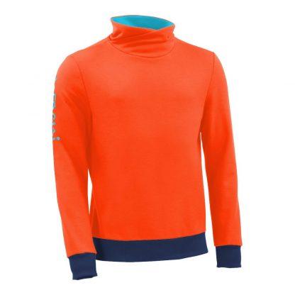 Pullover mit Schalkragen_fairtrade_orange_ZBJCBB_front