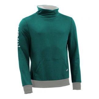 Pullover mit Schalkragen_fairtrade_petrol_0NA18O_front