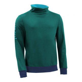 Pullover mit Schalkragen_fairtrade_petrol_5RI5OV_front