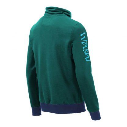 Pullover mit Schalkragen_fairtrade_petrol_5RI5OV_rueck