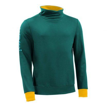 Pullover mit Schalkragen_fairtrade_petrol_H1ZWEL_front
