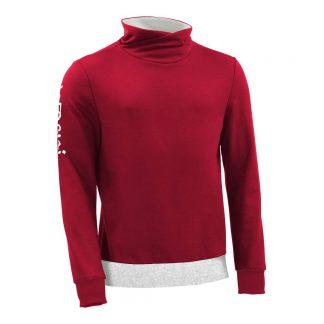 Pullover mit Schalkragen_fairtrade_rot_LH9208_front