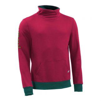 Pullover mit Schalkragen_fairtrade_weinrot_E1K7RC_front