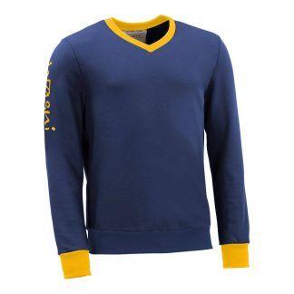 Pullover mit V-Ausschnitt_fairtrade_blau_W9SSXL_front