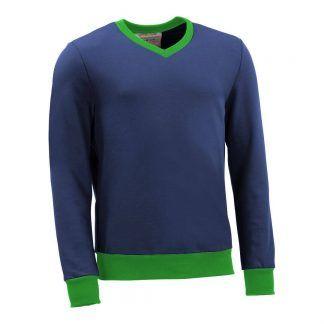 Pullover mit V-Ausschnitt_fairtrade_blau_Z3ERWD_front