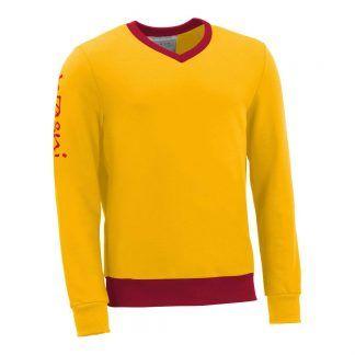 Pullover mit V-Ausschnitt_fairtrade_gelb_FDLS2K_front
