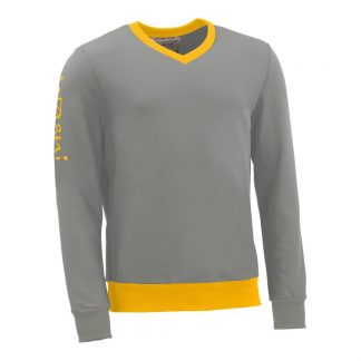 Pullover mit V-Ausschnitt_fairtrade_grau_29OLEM_front