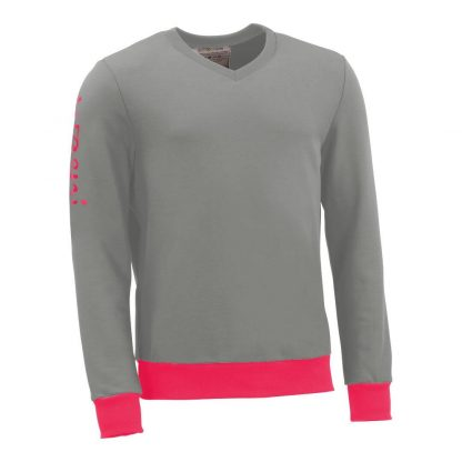Pullover mit V-Ausschnitt_fairtrade_grau_B4EUW0_front