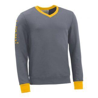 Pullover mit V-Ausschnitt_fairtrade_grau_IEYN0O_front