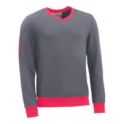 Pullover mit V-Ausschnitt_fairtrade_grau_NIT8ZU_front