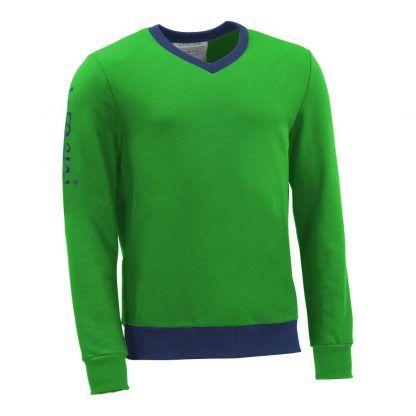 Pullover mit V-Ausschnitt_fairtrade_gruen_3KDV9C_front