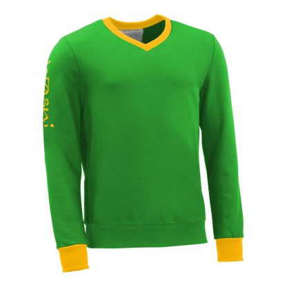 Pullover mit V-Ausschnitt_fairtrade_gruen_8PWHZK_front