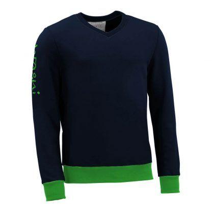 Pullover mit V-Ausschnitt_fairtrade_marineblau_3R6NIX_front