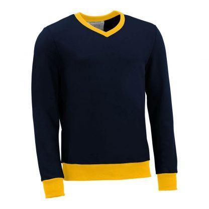 Pullover mit V-Ausschnitt_fairtrade_marineblau_KJDI6S_front