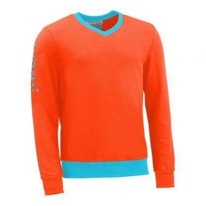 Pullover mit V-Ausschnitt_fairtrade_orange_UO4JU2_front