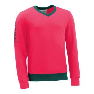 Pullover mit V-Ausschnitt_fairtrade_pink_IQAH18_front
