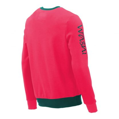 Pullover mit V-Ausschnitt_fairtrade_pink_IQAH18_rueck