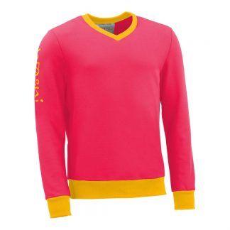 Pullover mit V-Ausschnitt_fairtrade_pink_KMZNKH_front