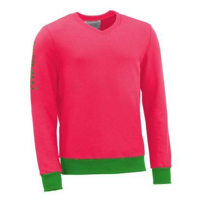Pullover mit V-Ausschnitt_fairtrade_pink_XBEBAV_front