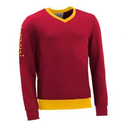 Pullover mit V-Ausschnitt_fairtrade_rot_CIAGYI_front