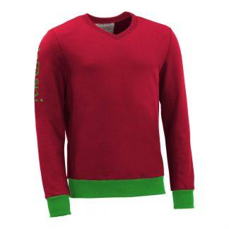Pullover mit V-Ausschnitt_fairtrade_rot_S5QR0L_front