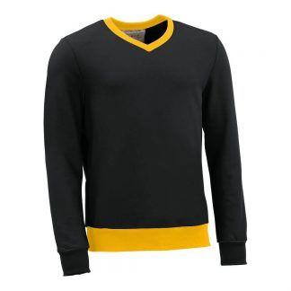 Pullover mit V-Ausschnitt_fairtrade_schwarz_CRDKBL_front