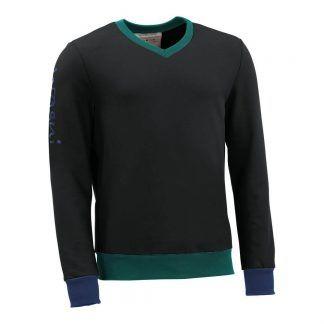 Pullover mit V-Ausschnitt_fairtrade_schwarz_DRUHPI_front
